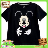 Baju/Kaos Anak Motif Mickey Mouse Black 1-10 th