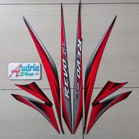 Striping Stiker Motor Honda Revo Fit Std 2012 Merah
