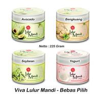 VIVA Lulur Mandi 225gr - Avocado | Bengkuang | Soybean | Yogurt