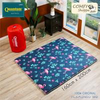 Quantum Kasur Lantai 160 x 200 Flamingo- Busa Lipat Gulung Travel