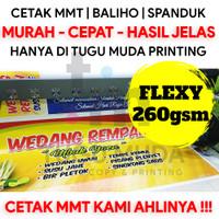 Cetak MMT Murah Spanduk Partai Banner Baliho - Flexy Frontlite 260gsm