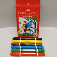 CRAYON PUTAR, silky crayon 6WRN Faber Castell.