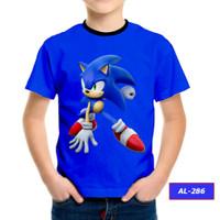 Kaos Sonic Series 3D Baju Sonic Anak #AL-286