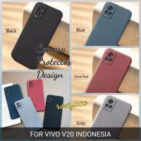 softcase vivo v20 case anti slip superthin silicon sandstone cover