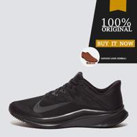 CD0230-001 Sepatu Running Original Nike Quest 3 - Black/Dk Smoke Grey