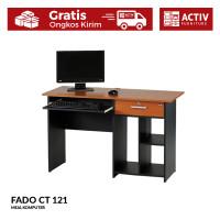 Activ Meja Komputer Kerja / Meja Minimalis Motif Kayu / FADO CT 121