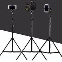 Tripod 2 Meter - Stand Holder Untuk Ringlight / Kamera / Handphone