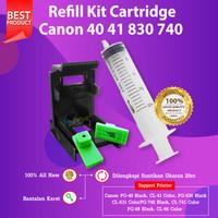 Refill Tool Kit Canon 40 41 Penyedot Tinta Cartridge 88 98 740 741 830
