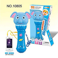 Mainan Anak Animal Microphone bisa colok ke HP   Mic Nyanyi