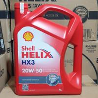 Oli shell Helix Hx3 20w-50 4liter. Asli