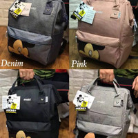 ransel / backpack Annelo MICKEY ready 4WARNA-ABU-ABU