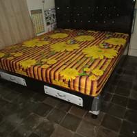 tempat tidur 1 set dipan laci + kasur inoac uk 160*200