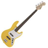 Squier FSR Affinity Jazz Bass, Laurel FB, Graffity Yellow,BMJ
