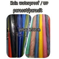 bahan kain waterproof wp parasut parasit polos/kain waterprof meteran