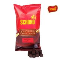 Dark chocolate couverture 60% cube / easy melt chocolate / coklat blok