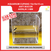 Aquarium Cupang Akrilik / Soliter Selfie Acrylic ukuran 15x10x15 CM