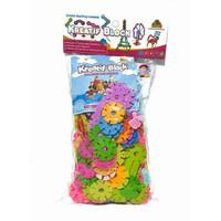 Mainan Anak Kreatif Block Motif Bunga isi 160 Pcs Warna Warni Edukatif