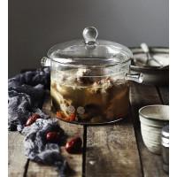 Arami Small Clear Glass Cooking Pot w/ Lid | Panci Ramen Ramyeon Korea