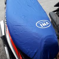 Cover Jok/ Sarung Jok Motor Anti hujan Bahan Parasut Waterproof - BIRU