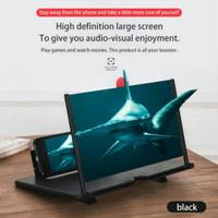 """Kaca Pembesar Layar HP 3D 7""""/ 10"""" Inchi Lipat Portable - Hitam"""