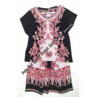 Setelan batik atasan & celana pendek, adem cantik murah Bunga Siantan