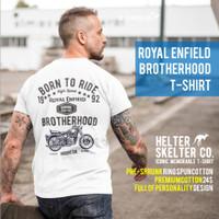 T-Shirt Kaos Royal Enfield Motor Indonesia Brotherhood 1992 White