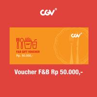 F&B Voucher CGV Cinemas IDR 50K - 2 pcs