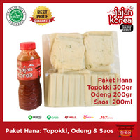 Paket Hana Topoki / Tteokbokki / Topokki , Odeng & Saos Jajan Korea