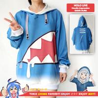 Jaket Hoodie Sweater Anime Holo Live Gawr Gura Impression Cosplay