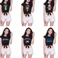 croptop kaos blouse baju atasan wanita crop top tee anak remaja