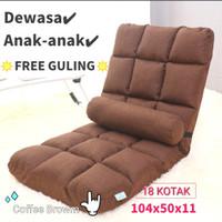 import-kursi Tatami-kursi lantai-kursi lesehan-Kursi malas - COFFE brown
