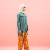 ZM x Tantri Namirah - Jisu Green Kemeja Jelita Indonesia Edisi Padang