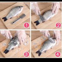 Fish scale skin remover stainless steel alat pembersih sisik ikan besi