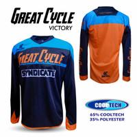 Baju jersey sepeda lengan panjang jersey sepeda gowes RB MTB Victory