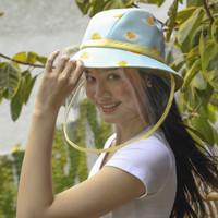 Printed Bucket Hat with Face Shield - Arkamaya x Gudetama - Dewasa