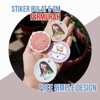 Label Stiker Nama Toko Kue Makanan Sticker Toko Bulat