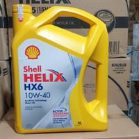 oli shell helix hx6 sae 10w 40 4liter. Asli