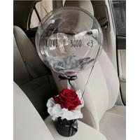 balon box/ ballon bloom box/ bunga box/ box balon/ buket bunga