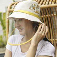 Sunny Day Bucket Hat with Face Shield - Arkamaya x Gudetama