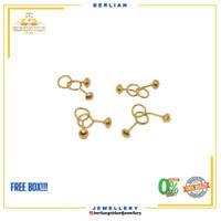 anting toge emas 24k perhiasan emas original