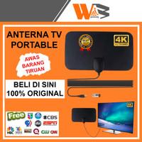 Antena Tv Digital Indoor Led Rumah Portable Antenna Penguat Sinyal Tv