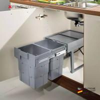 Ninka Wasteboy 2 x 16 L - Tempat Sampah Cabinet Model Tarik/Dorong