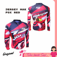 Jersey sepeda baju sepeda gowes roadbike XC Fox Red