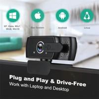Webcam Digital Video Live Streaming 1080P Full HD Web Camera