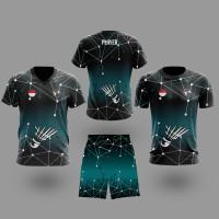 T-shirt Kaos Dan Celana BADMINTON Untuk Pria atau Wanita Style11