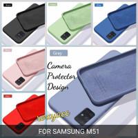 softcase samsung m51 case anti noda silicon bahan lentur cover