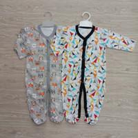 Sleepsuit Bayi Jumper Baju Tidur Kodok Panjang Isi 3 Bahan Velvet Baby