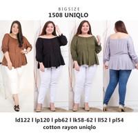 Atasan Jumbo 1508 Uniqlo Blouse Bigsize