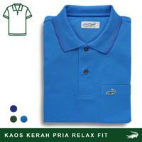 Crocodile COLE Sapphire - Baju Kaos Kerah Pria Men Polo Original