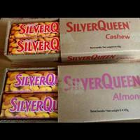 silverqueen cashew dan almond 65 gr isi 6